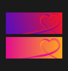 heart colorful neon figuresvalentines day vector image