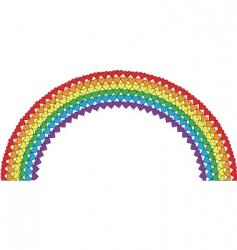 heart rainbow vector image