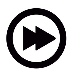 isolated forward button vector image