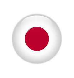 Japan flag on button vector