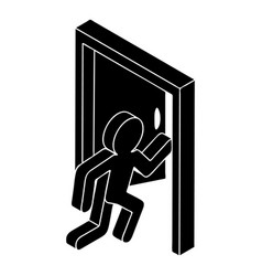 market exit icon simple style vector image
