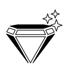 mine diamond isolated icon vector image