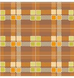Modern Yellow Plaid Pattern vector image
