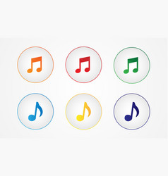 musical multicolored buttons vector image