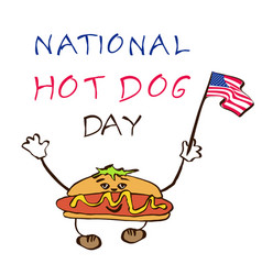 national day hot dog background vector image