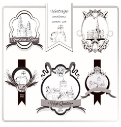 Old city emblems vector image