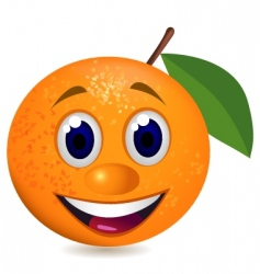 orange character vector image