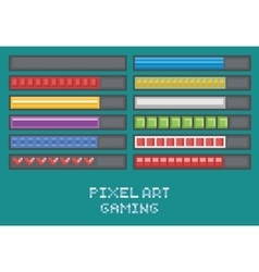 Pixel art game development set - progress bar vector