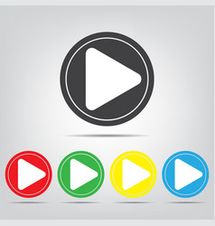 play icons colored buttons vector image