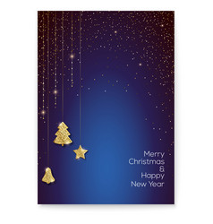poster for merry christmas holidays luxury golden vector image