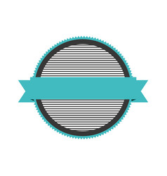 realistic color circular shape stamp with striped vector image