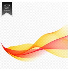 Red and yellow abstract wave background vector