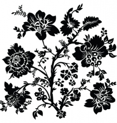 rose and thorn ornament vector image