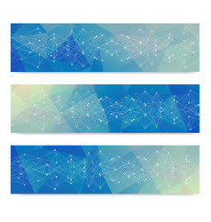 scientific set of modern banners dna vector image
