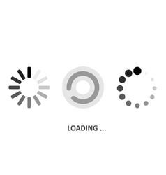Set loading icons white background vector