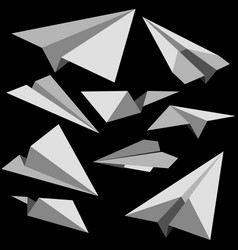 set of paper planes vector image