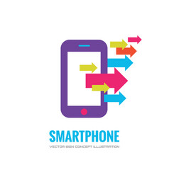 Smartphone logo template mobile phone vector