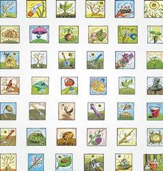 Spring Garden Icons Set vector image