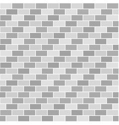 Striped gray brick wall pattern seamless brick vector