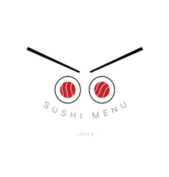 Sushi menu icon vector
