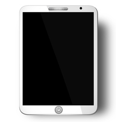 Tablet with Blank Screen - White tablet with blank vector image