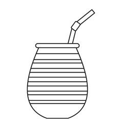 Tea cup called chimarrao used for mate icon vector