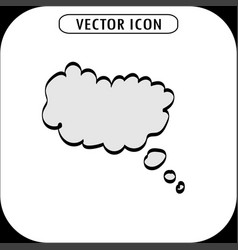 Think bubble icon vector