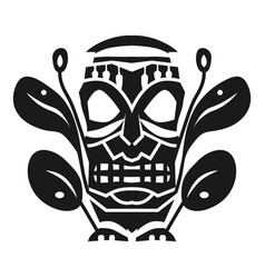 Tribal aztec mask idol icon simple style vector