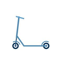 Urban eco transport blue scooter bike vector