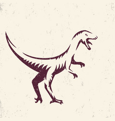 velociraptor dinosaur vector image