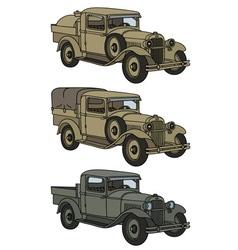 Vintage military trucks vector
