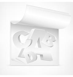 White letters symbol vector