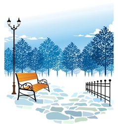 Winter Park Scene vector image