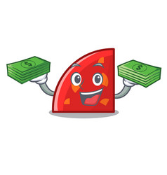 with money quadrant mascot cartoon style vector image