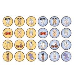 Zodiac web buttons vector image