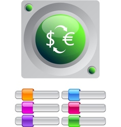 Money exchange color round button vector image