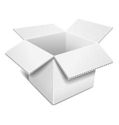 Open white cardboard box vector image vector image