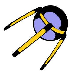 spacecraft icon icon cartoon vector image vector image