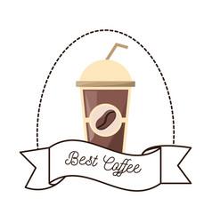Best coffee paper cup beverage vector
