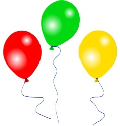 colourful party balloons vector image
