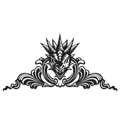 Dragons head tattoo vector image
