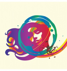 lady background vector image