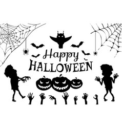happy halloween with title on vector image