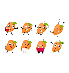 mango fruits cartoon character vector image vector image