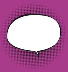 oval speech bubble on pink background vector image vector image
