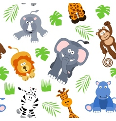 seamless safari background vector image