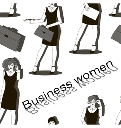 Business women set pattern vector image