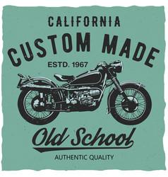 california custom made poster vector image vector image