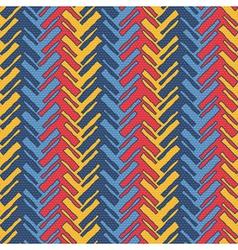 Colorful herringbone vector image vector image
