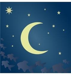 Fabulous lunar night vector image